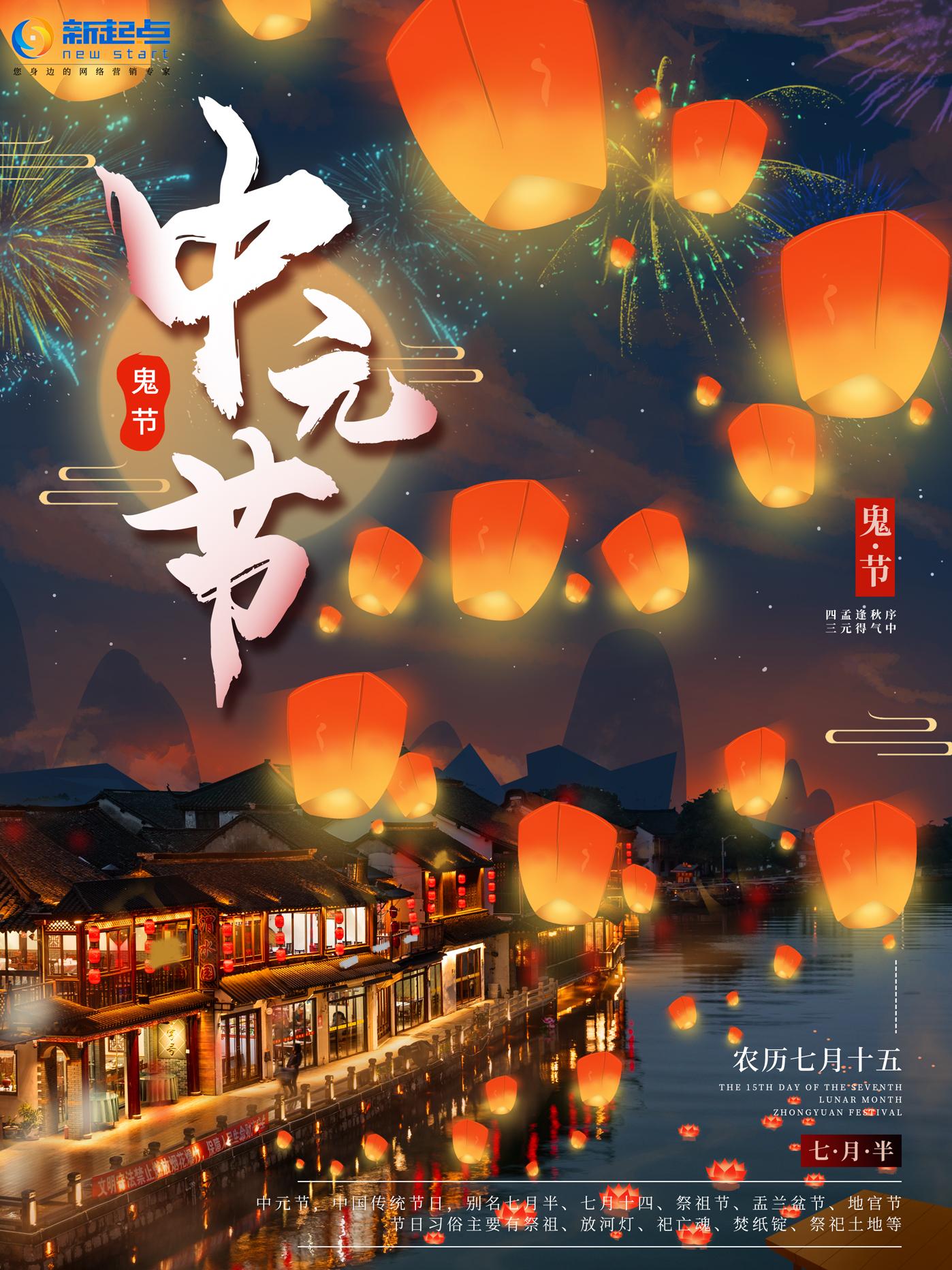 中元节,祭先祖,求平安!