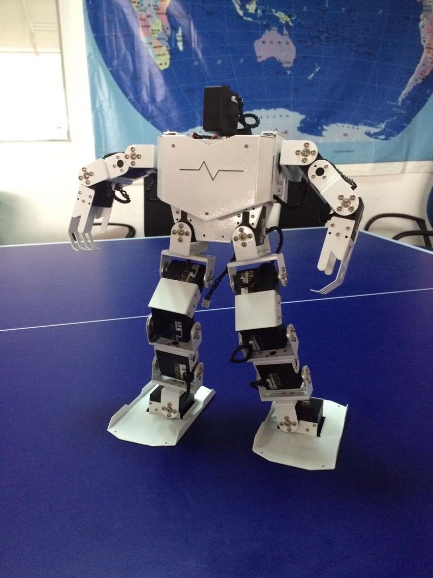 串行总线舵机布线简洁diy17自由度仿人形教育机器人