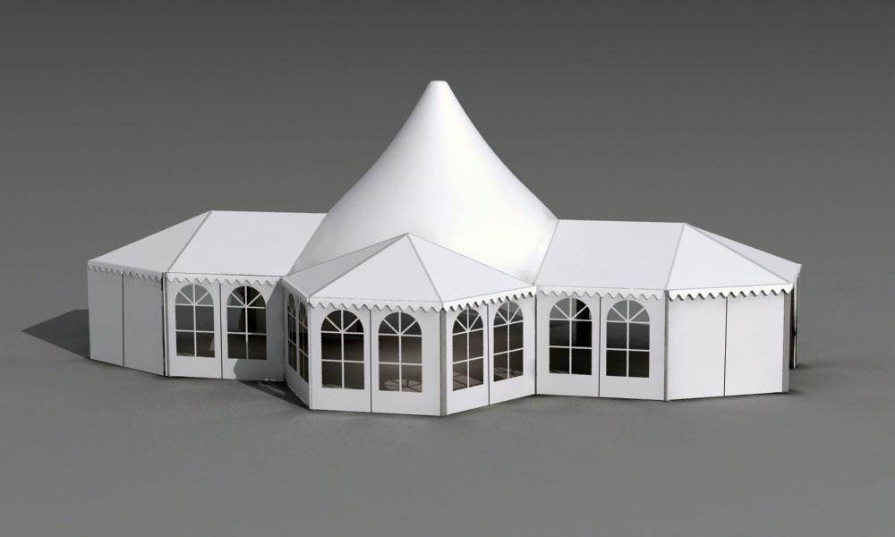 高端展览婚礼帐篷混合型欧式篷房定做