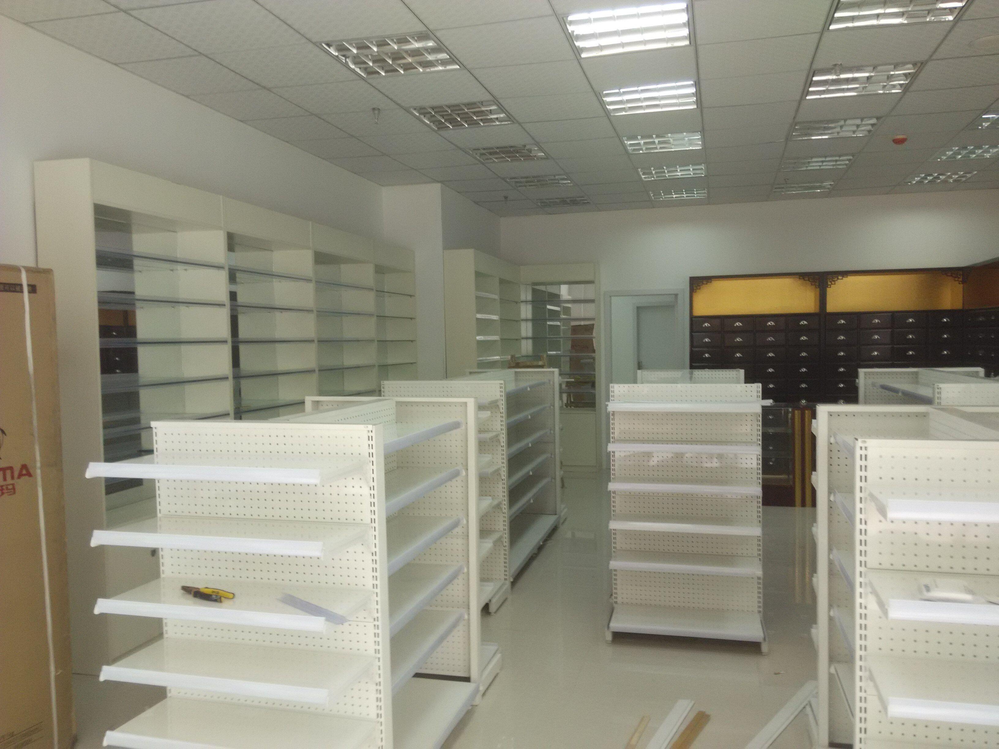 成都药房药店展柜货架生产厂家定做药房药店货柜