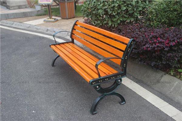 大理休闲椅子现货供应 木塑靠背公园椅子耐腐蚀 宙锋科技
