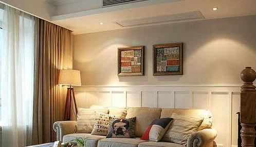 白色护墙板搭配什么颜色沙发?图片