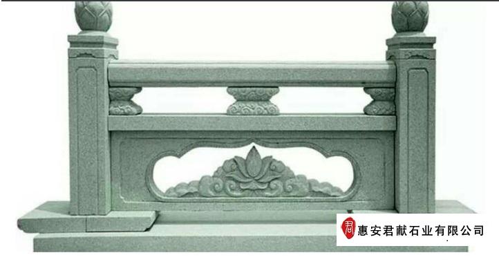 组成搭配 石雕栏杆的主要组成部分:柱头,立柱,栏板,报鼓,地铺石.