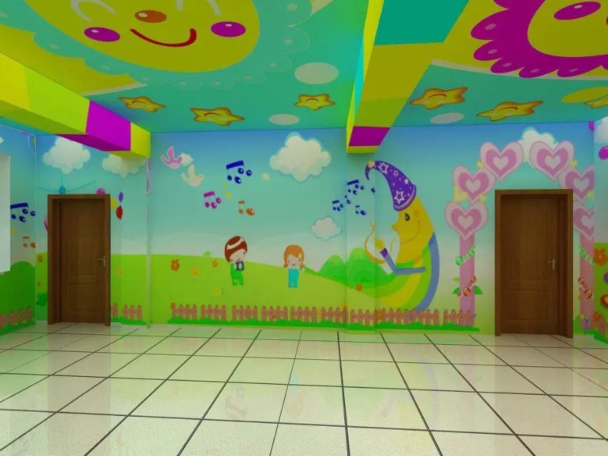 眉山市幼儿园手绘墙体彩绘喷绘