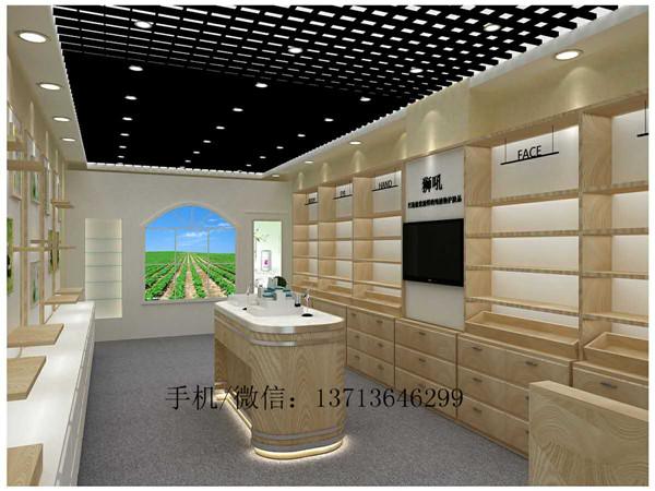 南山狮吼化妆品店装修效果图片 厂家定做木质烤漆化妆