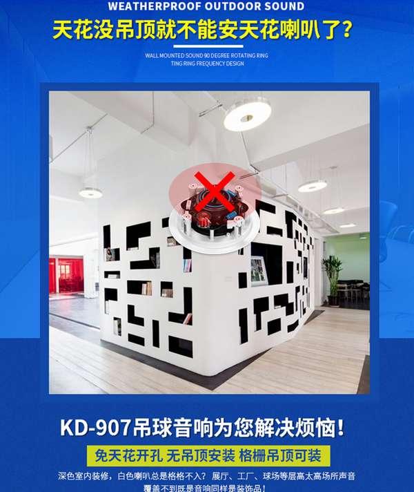 EodExo KD907背景音乐吊球音响:同轴高音,工厂直销