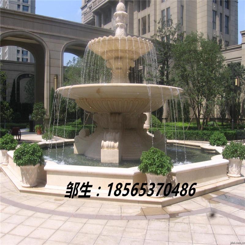 流水喷泉 石材流水喷泉摆件 砂岩流水喷泉欧式雕塑小品