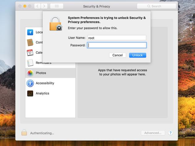 苹果电脑安全漏洞:不需要输入密码就可以解锁(附漏洞解决方法)