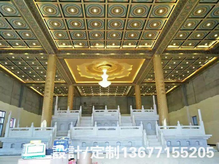 古建天花寺庙仿古彩绘天花板中式装修道教教堂佛堂吊顶彩绘吊顶图片