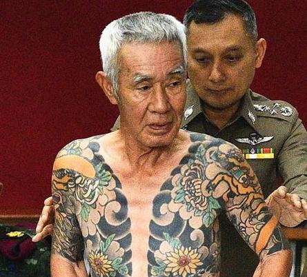 日本一黑帮大佬逃亡泰国15年 因成网红被发现逮捕.png