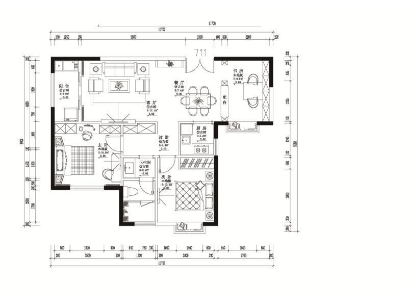 山東淄博樣板房方案1  711樣板房|住宅-泉州市花樣年設計有限責任公司