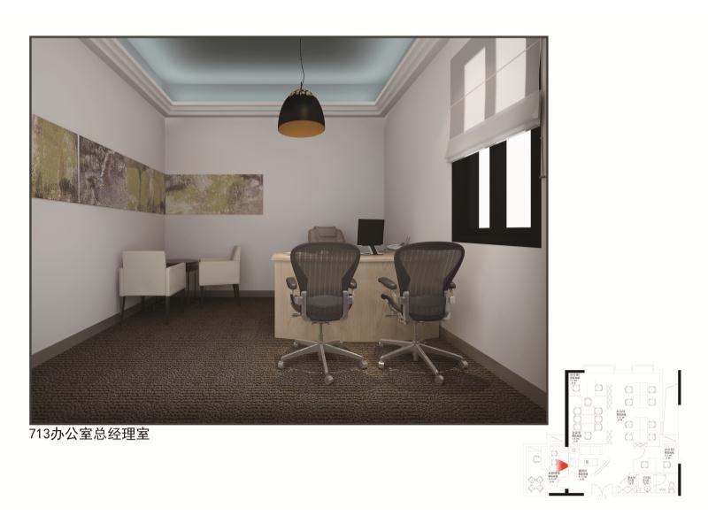 山東淄博樣板房方案1  713辦公室|住宅-泉州市花樣年設計有限責任公司