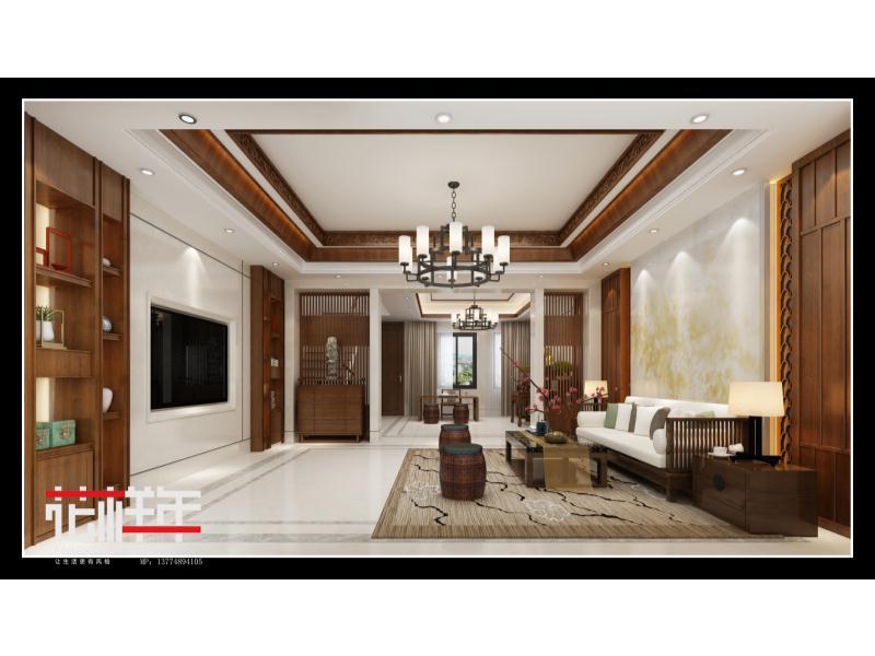 泉州豪盛中式別墅|住宅-泉州市花樣年設計有限責任公司