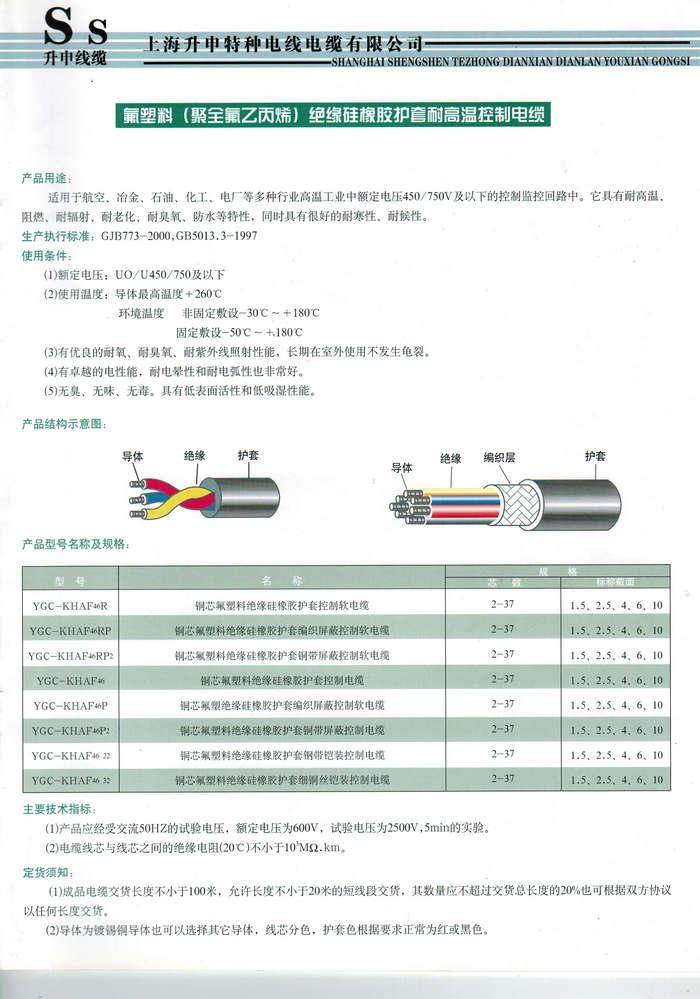 定制氟塑料電線電纜