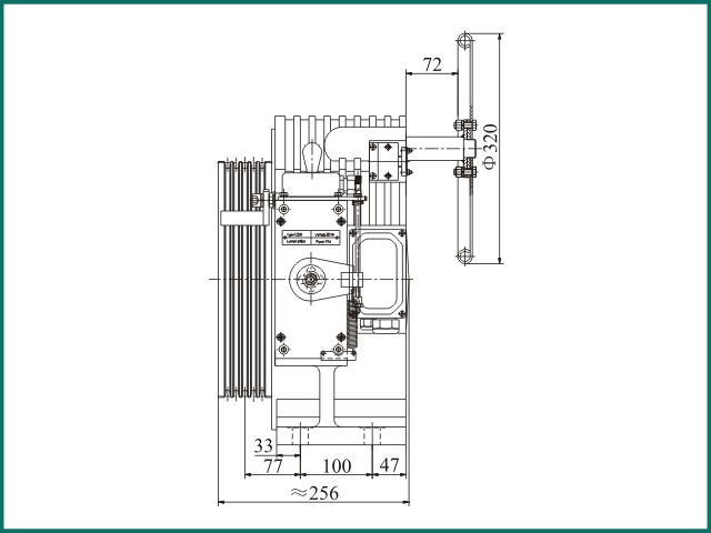 互生 阿里 Elevator parts , Elevator Traction Machine GTW7...jpg