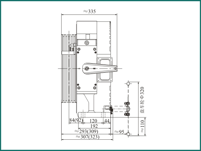 互生 阿里 Elevator parts , Elevator Traction Machine GTW9...jpg