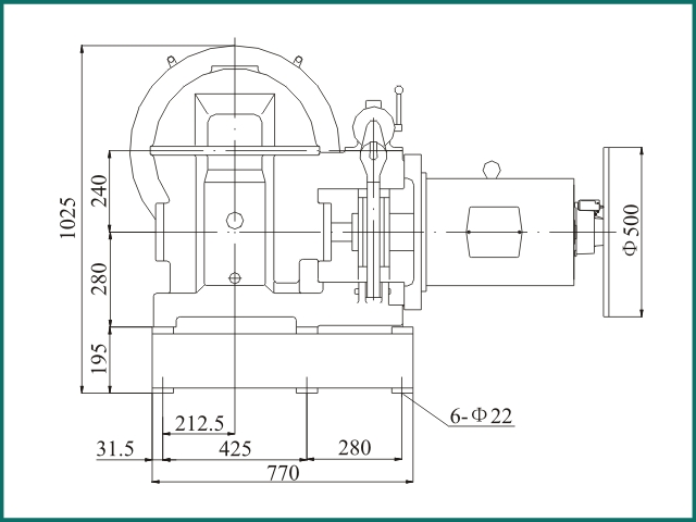互生网站产 Elevator parts , Elevator Traction Machine YJ240B...jpg