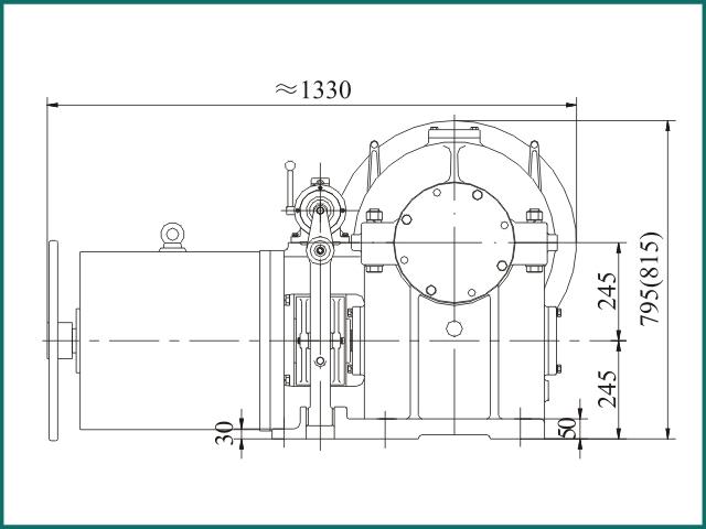 互生网站产 Elevator parts , Elevator Traction Machine FYJ245...jpg