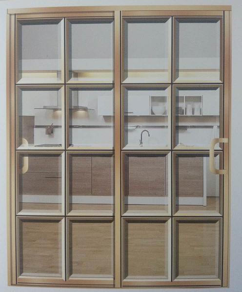 石家庄钛镁铝合金玻璃门-厂家定做玻璃门 拼格门糸列-藁城区森雅玻璃