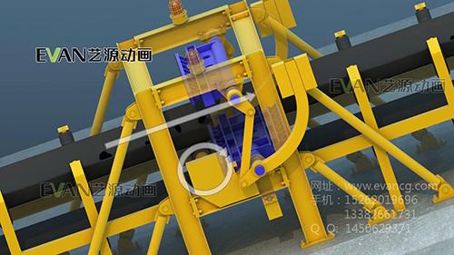 矿井断带保护三维演示动画|工业应用-徐州艺源动画制作有限公司