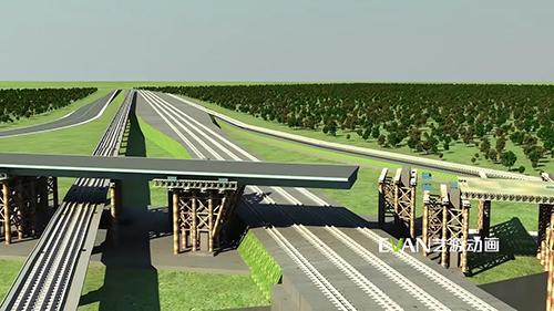 镇江五凤口高架桥施工技术三维动画|工业应用-徐州艺源动画制作有限公司