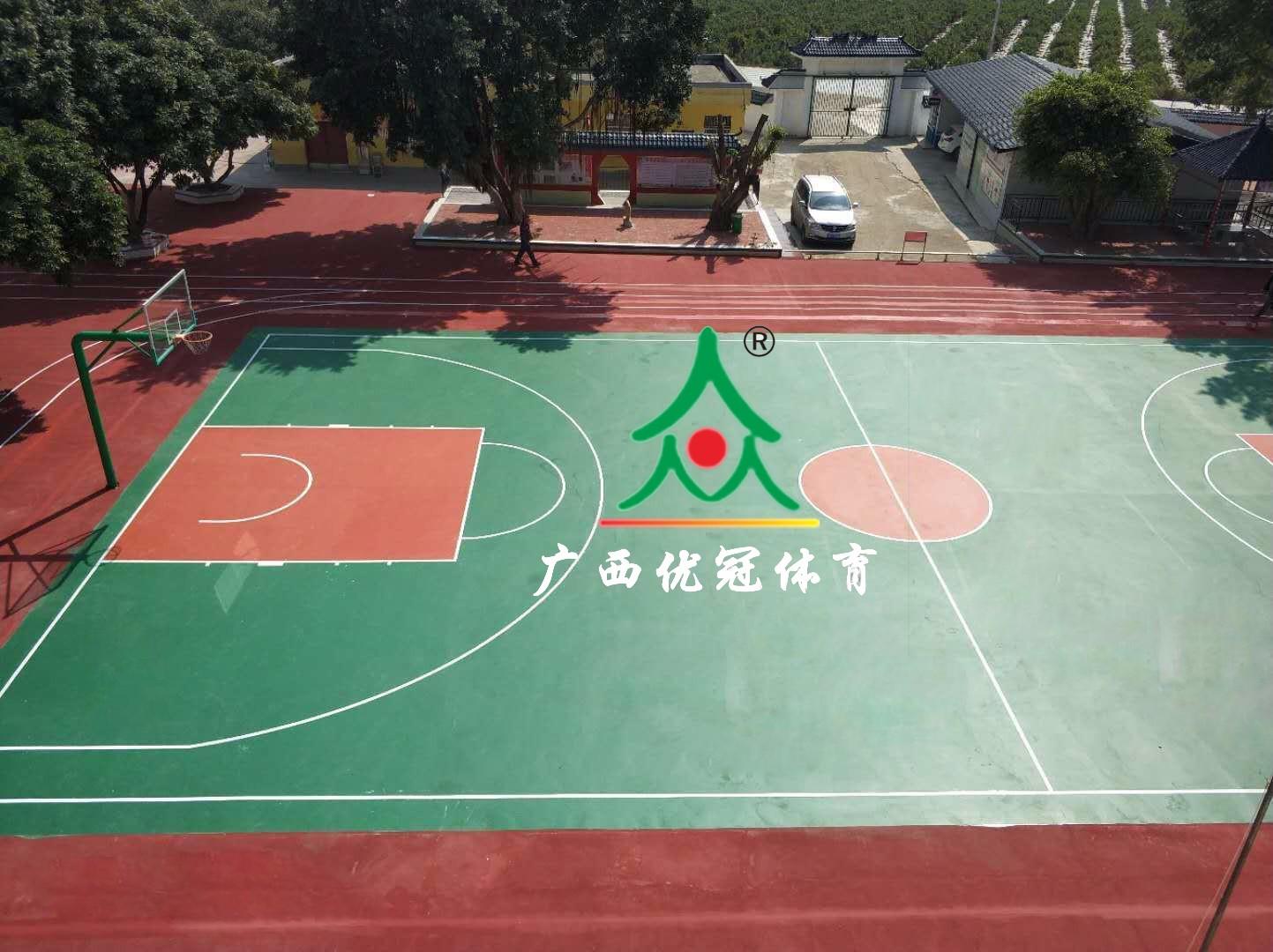 丁当镇华岳小学|最新案例-广西优冠体育场地设施工程有限公司