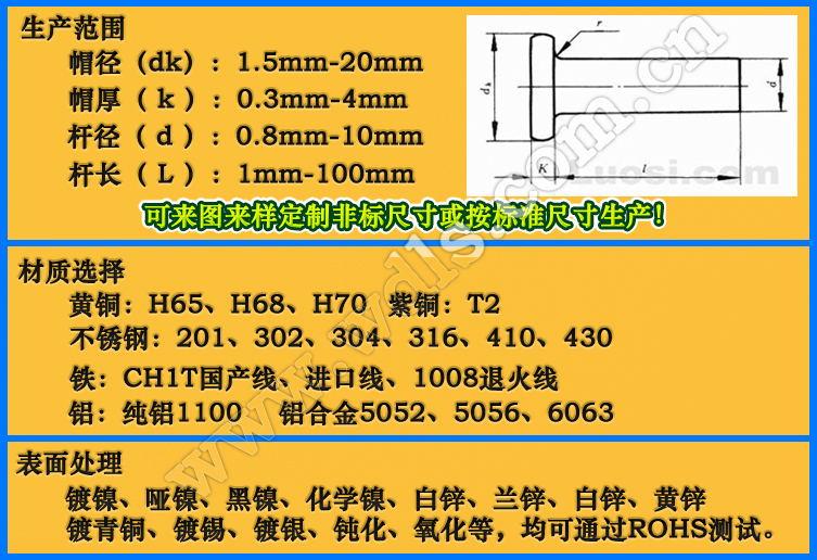 不锈钢半空心铆钉304|不锈钢铆钉-深圳市文达五金制品有限公司