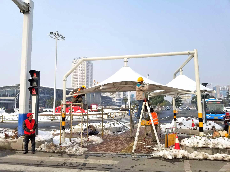 溧阳十字路口膜结构景观棚 新闻动态-常州红叶膜结构工程有限公司