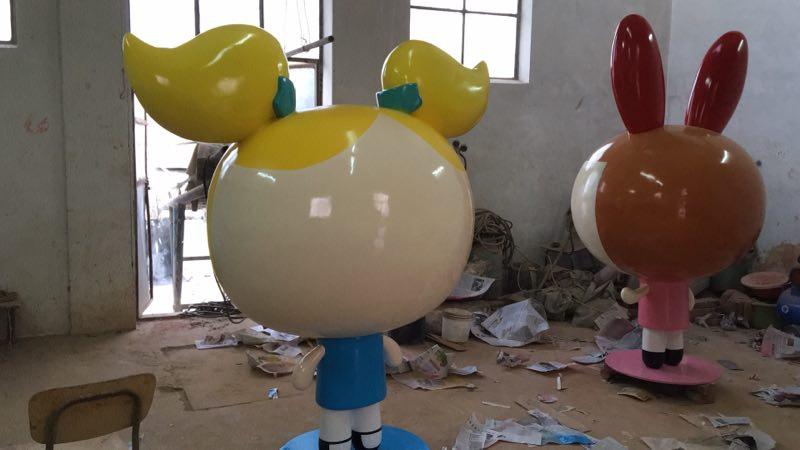 卡通女警|玻璃钢卡通雕塑|玻璃钢雕塑-卡通雕塑, 玻璃钢雕塑-乐陵京北荣业复合材料有限公司