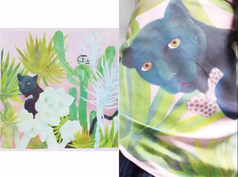 又到了天暖开始撩人的时候,这三种丝巾图案风格最有春天的气息|行业资讯-西安市莲湖区爱恋服装厂