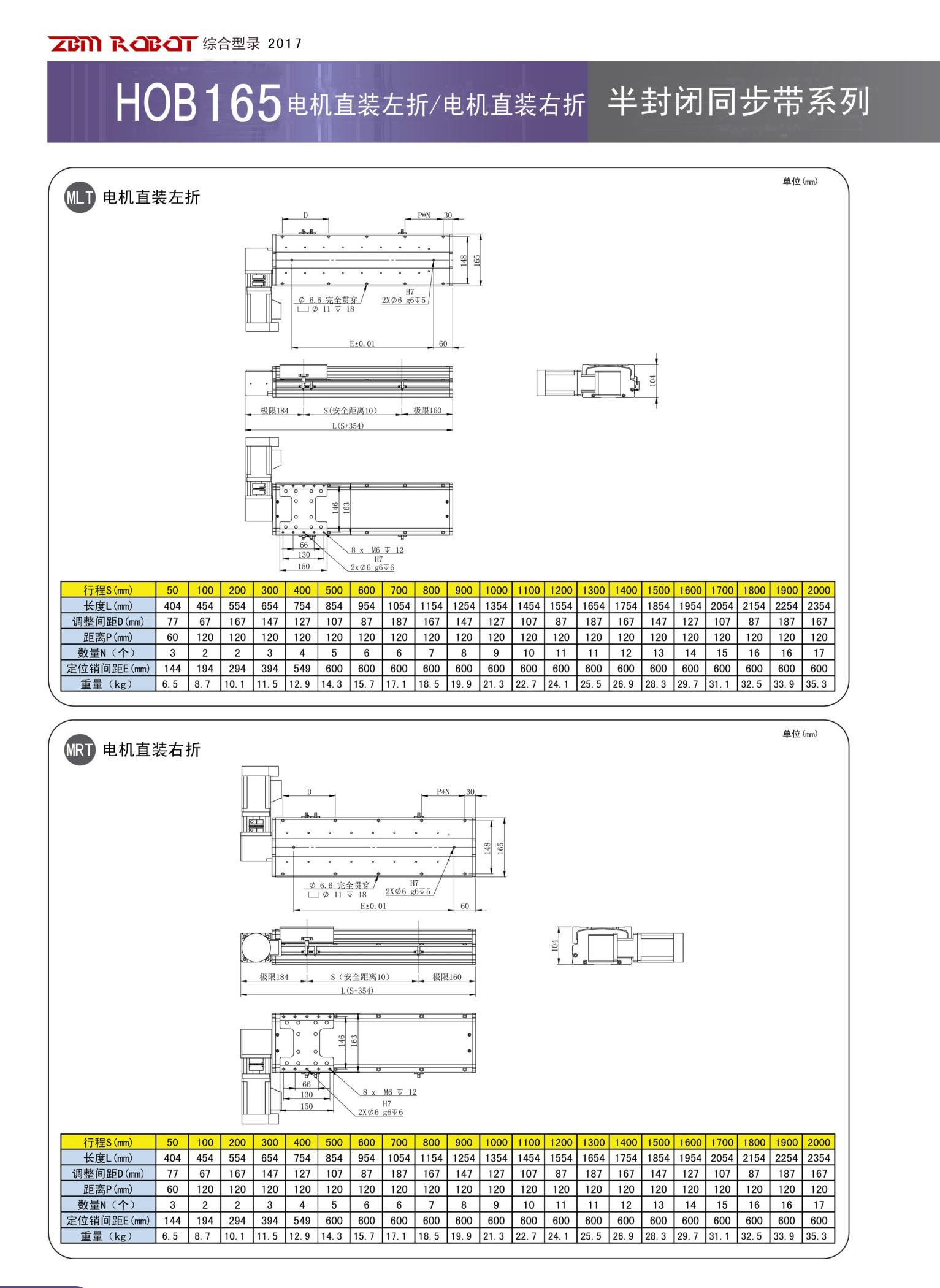 HOB165B-CM|半封闭皮带模组-深圳市桃花app下载特别黄的智能装备有限公司