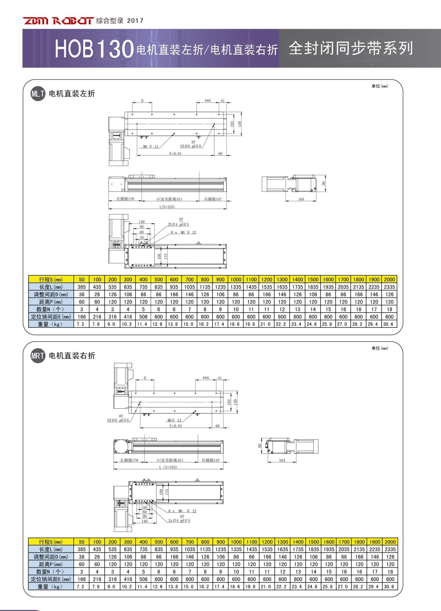 HOB130B-CR|全封闭皮带模组-深圳市桃花成视频人app智能装备有限公司