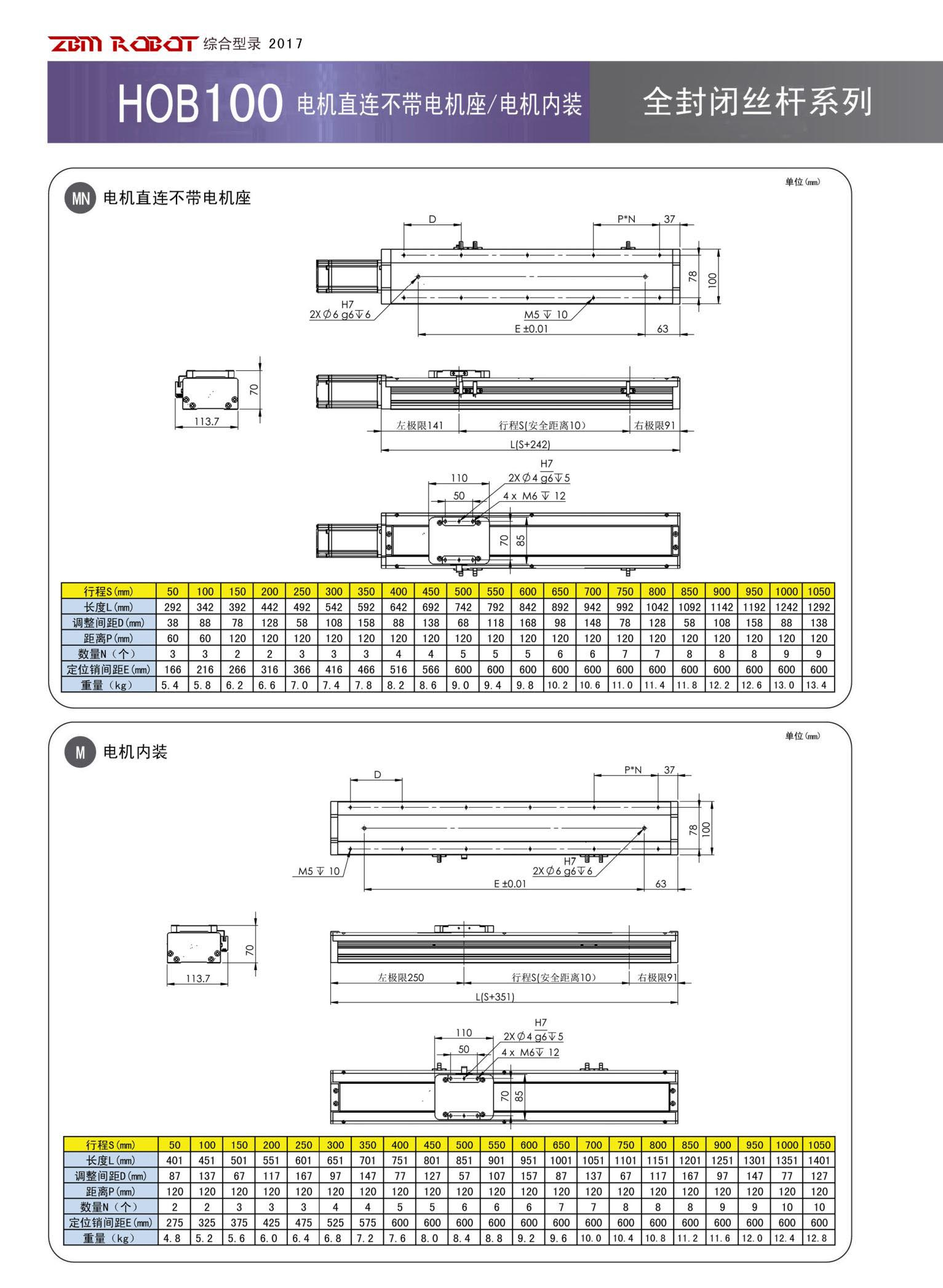 HOB100S-CR|全封闭丝杆模组-深圳市鸿博智能装备有限公司