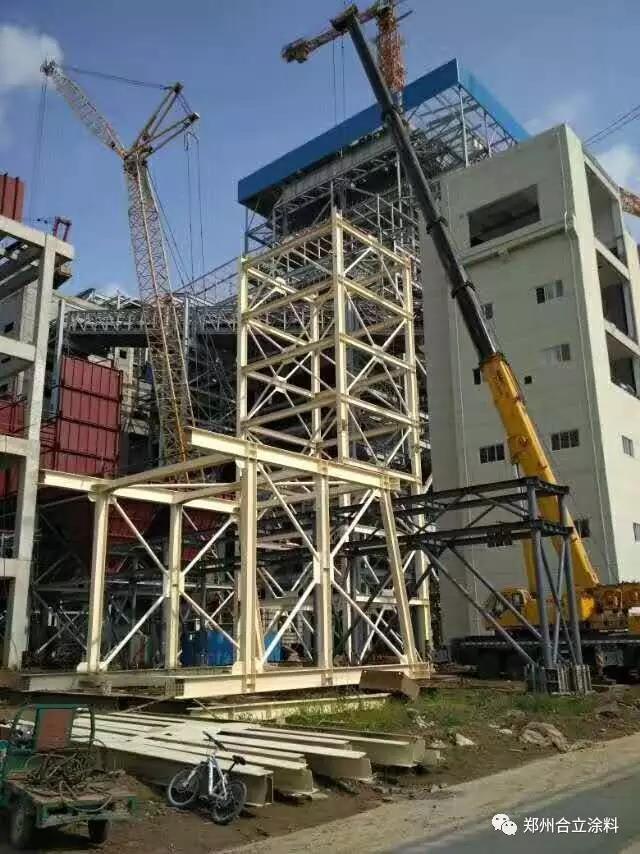 周口隆達電廠輸煤棧橋吊裝成功! 工程案例-鄭州久新材料科技有限公司
