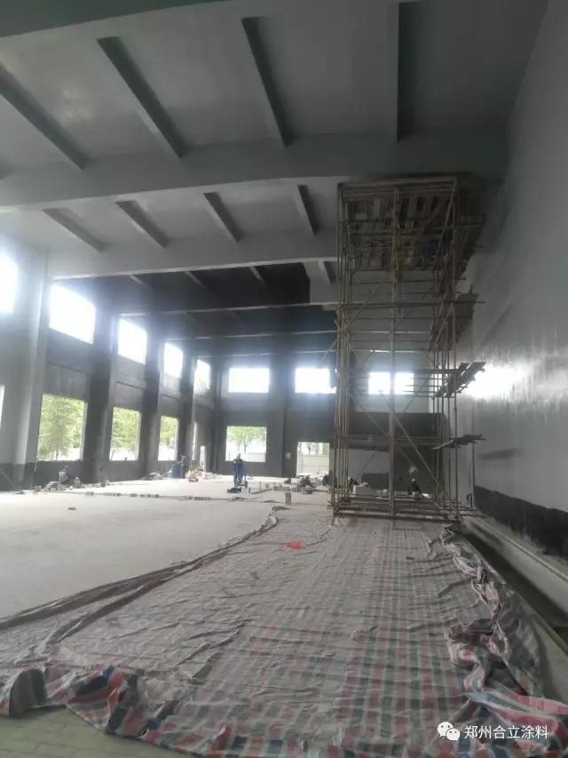 693廠研發生産基地二期工程生産協作樓及輔助廠房內牆防腐項目施工完成|工程案例-鄭州久新材料科技有限公司