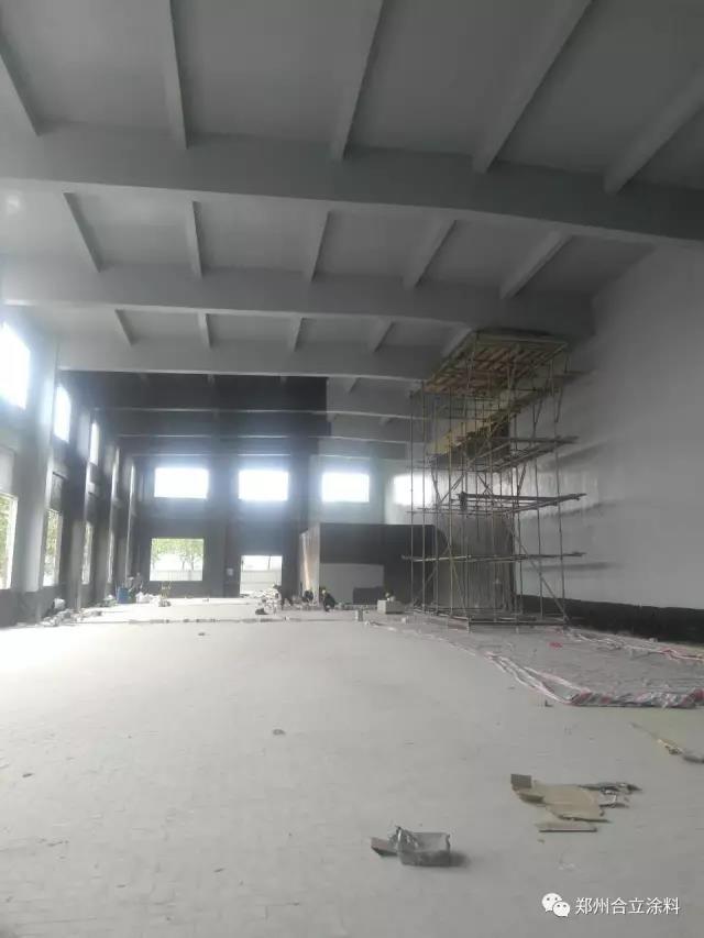 693廠研發生産基地二期工程生産協作樓及輔助廠房内牆防腐項目施工完成|工程案例-鄭州久新材料科技有限公司