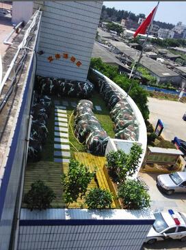 围头派出所成品8月份|锦都园林-泉州锦都园林景观工程有限公司