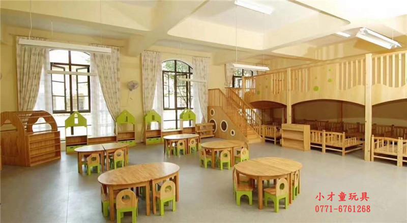 木制小圆桌,幼儿园桌椅定做|幼儿园室内配套设施-南宁市小才童贸易有限公司