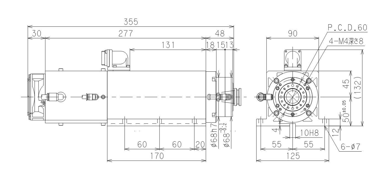 进樱自动换刀型主轴电机S238EX30 日本SHIN-OH进樱电主轴-咸阳恒旭商贸有限公司