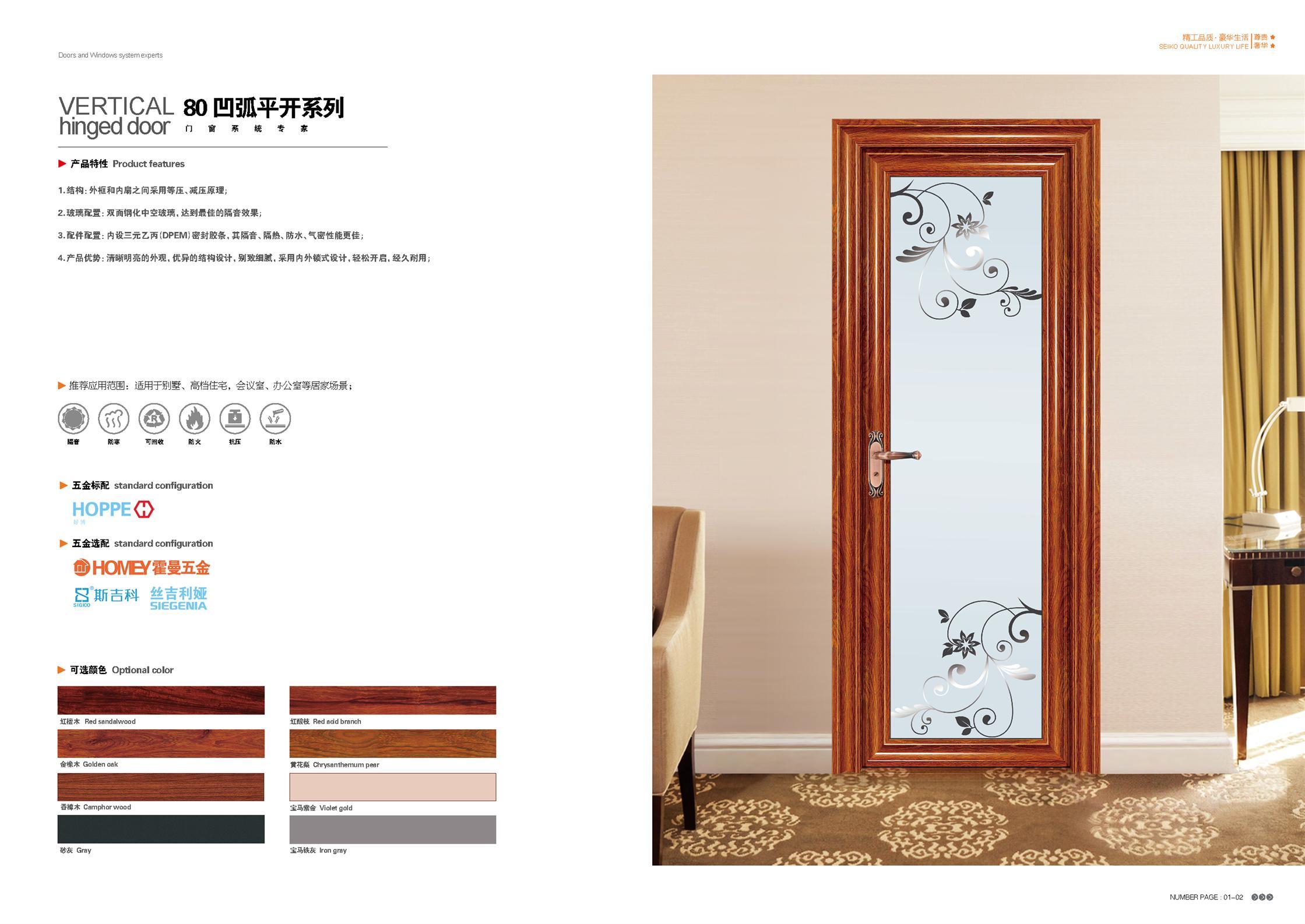 平開門|8035寶馬平開系列-長沙鑫銘幕墻門窗裝飾有限公司