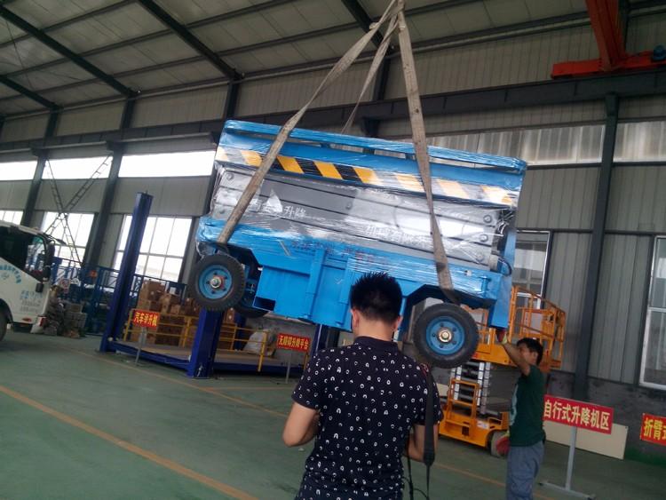 发湖北省咸宁市通城县6m移动剪叉升降机|合作案例-济南金泉升降机械有限公司