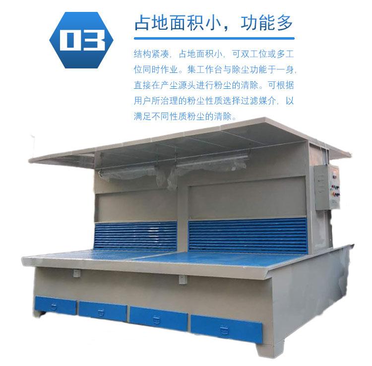 双工位打磨粉尘净化设备  双工位打磨台-山东众诚联创环保科技开发有限公司