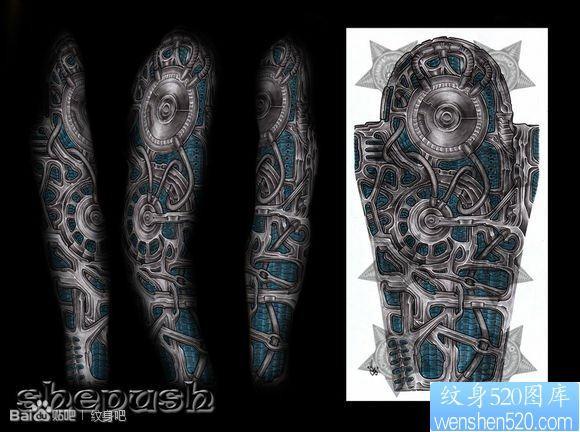 誰能給幾張這種大花臂的紋身手稿,這類圖片也行,好看一定采納圖片