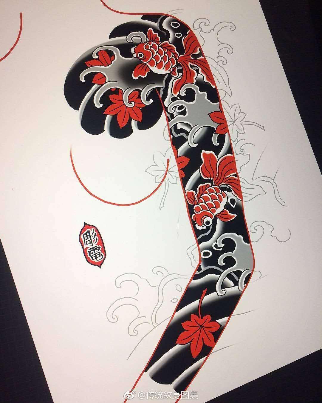 老传统|手稿-郑州天龙纹身工作室