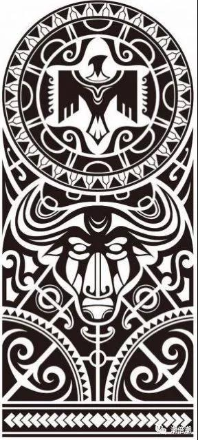 玛雅图腾|手稿-郑州天龙纹身工作室