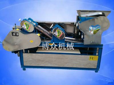 广东阳西订购馄饨皮饺子皮机 馄饨皮面条一体机一台|成功案例-邢台博众机械厂