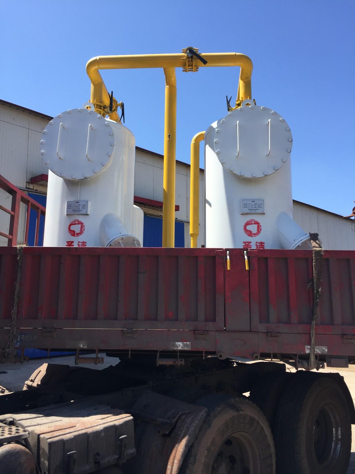 江苏省南通市撬装脱硫稳压装置发货|成功案例-唐山圣洁环保科技有限公司