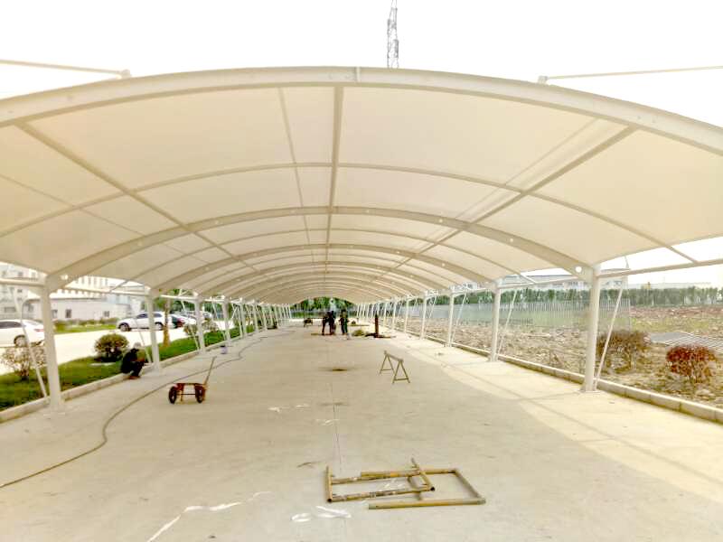 宜兴江南电缆车棚安装|新闻动态-常州红叶膜结构工程有限公司