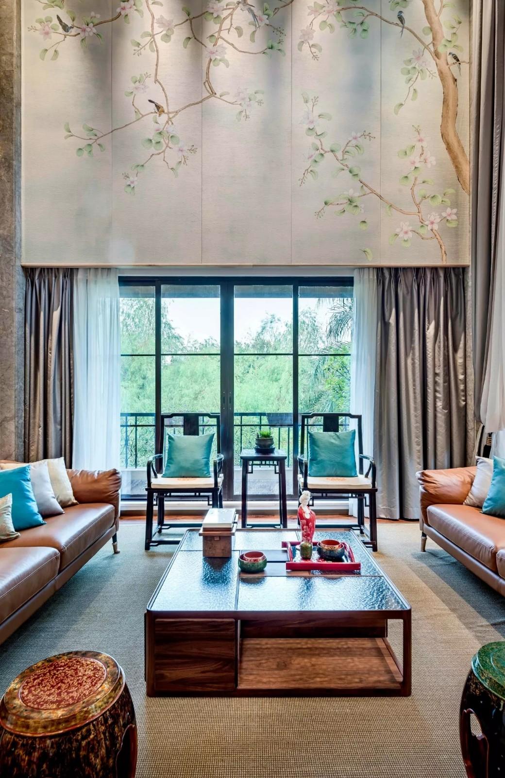 新中式客廳,傳統東方美|行業資訊-廣州八圓素軟裝飾設計有限公司