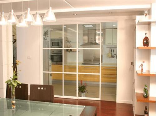 重庆隔断_半开放式厨房玻璃隔断设计_重庆隔断
